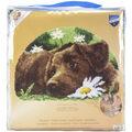 Vervaco 27.5\u0027\u0027x18.5\u0027\u0027 Shaped Rug Latch Hook Kit-Chocolate Labrador