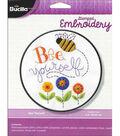 Bee Yourself Stamped Cross Stitch Kit-8\u0022 Round
