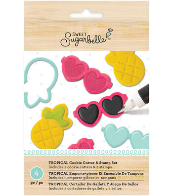 Sweet Sugarbelle Specialty Cookie Cutter & Stamp Set-Tropical