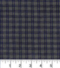 Premium Cotton Fabric -Windowpane Gray Blue
