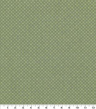 Keepsake Calico Cotton Fabric -Sage Dots