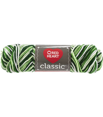 Red Heart Classic Yarn-Shaded Greens Multipack of 12