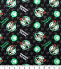 Boston Celtics Cotton Fabric -Logo on Black