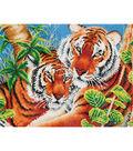 Diamond Embroidery Facet Art Kit 23.5\u0022X17\u0022-Tender Tiger