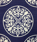 Outdoor Fabric-Medallion Navy Spa