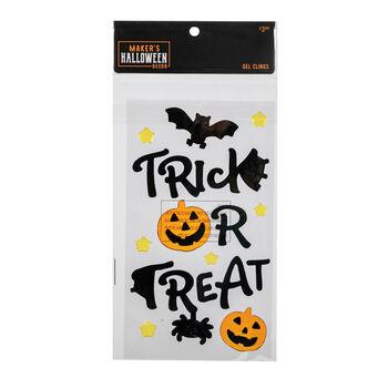 Maker's Halloween Decor 5.91''x9.84'' Gel Clings-Trick or Treat & Bats