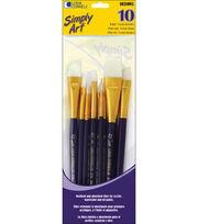 Loew-Cornell Simply Art White Nylon Brush Set, , hi-res