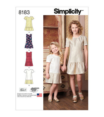 Simplicity Pattern 8183 Children's/Girls' Apparel-Size K5 (7-8-10-12-14)