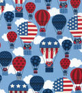 Patriotic Cotton Fabric 43\u0027\u0027-Owls In Balloon