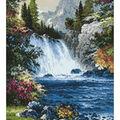 Collection D\u0027Art Diamond Embroidery/Printed/Gem Kit 38X48cm-Waterfall