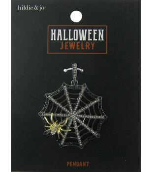 hildie & jo Halloween Pendant-Spider Web