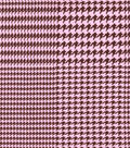 Snuggle Flannel Fabric -Houndstooth Pink