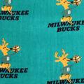 Milwaukee Bucks Fleece Fabric-Retro Logo