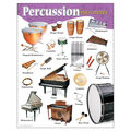 Percussion Instruments Learning Chart 17\u0022x22\u0022 6pk