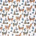 Super Snuggle Flannel Fabric-Desert Llama on White