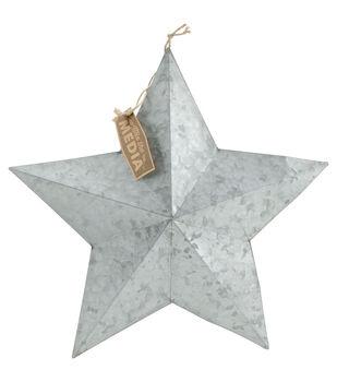 Fab Lab Medium Galvanized Metal Star