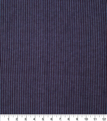Patriotic Cotton Fabric-Mini Pin Stripe on Blue