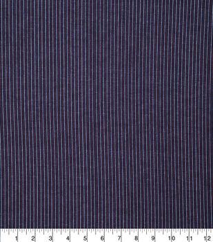 Patriotic Cotton Fabric-Mini Pin Stripe on Blue