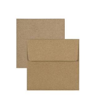 Park Lane 3''x3'' Mini Cards & Envelopes-Kraft