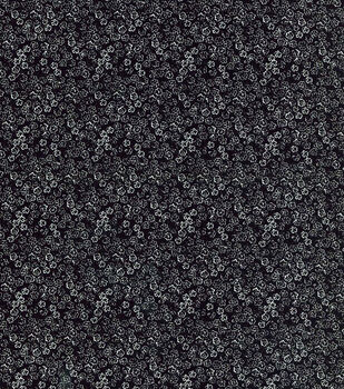 Keepsake Calico Cotton Fabric-Scribble Flowers Black