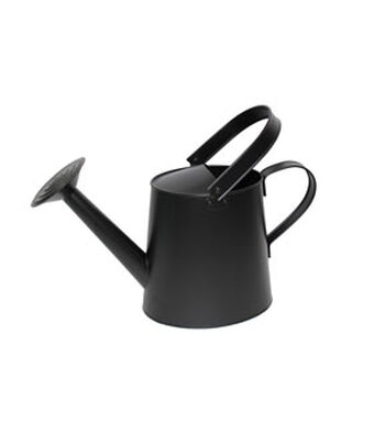 Hello Spring Gardening Watering Can-Black