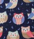 Blizzard Fleece Fabric-Sleeping Owls
