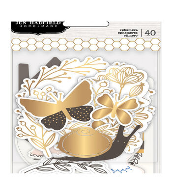 Jen Hadfield Along The Way Ephemera Cardstock Die-Cuts 40/Pk-Icons