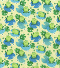 Novelty Cotton Fabric -Frog on LilyPad