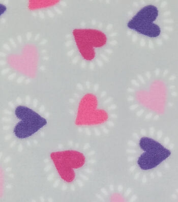Sew Lush Fabric 58''-Hearts on Gray