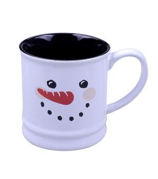 Handmade Holiday Christmas 16 oz. Stoneware Mug-Snowman