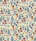 Snuggle Flannel Fabric-Camping with Woodland Animals