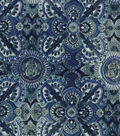 Modern Cotton Fabric 43\u0022-Large Medallions Blue