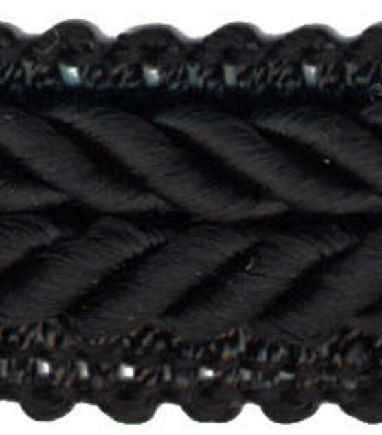 "Gimp braid trim Gray Navy Black Ivory 3//4 /"" wide Rayon"