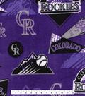 Colorado Rockies Fleece Fabric 58\u0022-Vintage