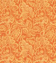 Keepsake Calico Cotton Fabric 44''-Tangerine Nadelle, , hi-res