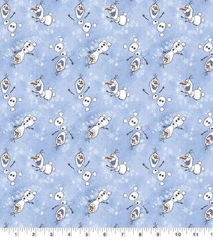 Disney Frozen 2 Flannel Fabric-Olaf Toss