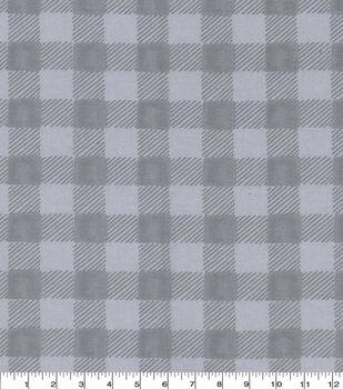 Harvest Cotton Fabric-Light Gray Buffalo Check