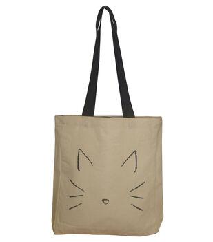 Canvas Tote Cat