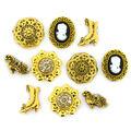 Jesse James Dress It Up Victorian Button Embellishments-Miniatures