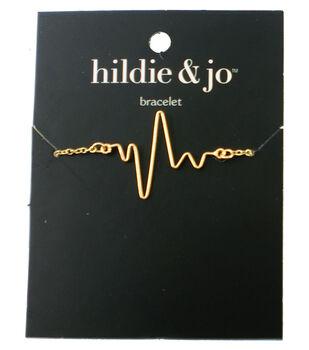 hildie & jo 8'' Metal Heartbeat Bracelet-Gold