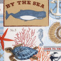 Novelty Cotton Fabric -By The Sea Patch