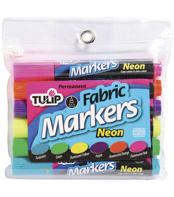 Tulip Fabric Markers-6PK/Neon