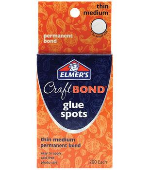 Elmer's Craft Bond Glue Spots-Thin Medium 200/pk