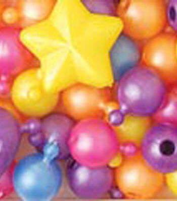 Pop Beads/Charm Pop Beads 12mm & 25mm 113 Grams/Pk-Pearl Multi
