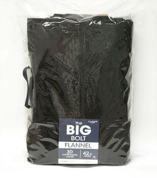 The BIG Bolt Cozy Flannel Fabric x30 yds-Black