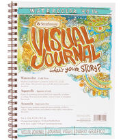 "Strathmore Visual Journal Watercolor 9""X12""-34 Sheets, , hi-res"