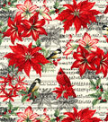 Maker\u0027s Holiday Cotton Fabric -Birds and Music