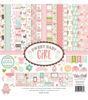 Echo Park Paper Company Sweet Baby Girl Collection 12''x12'' Kit