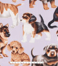 Anti-Pill Plush Fleece Fabric 58\u0022-Photo Real Pups