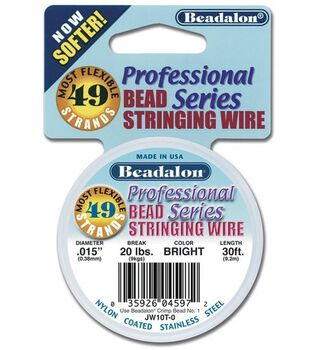 "Beadalon 49 Strand .018"" Wire-10FT/Bright"